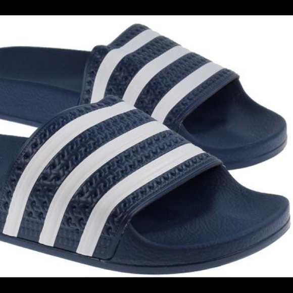 15fd4f9cd90d adidas Other - Adidas original Adilette Slides Navy white Worn 2x